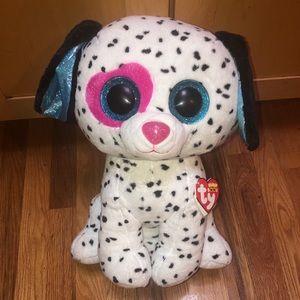 """Jumbo Beanie Boo, Chloe the Dalmatian. 16"""""""